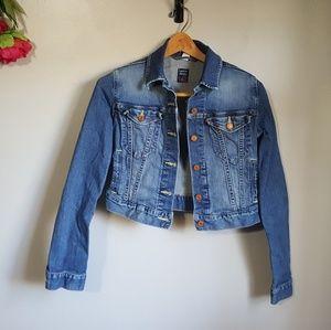 Levi's jean denim cropped vintage jacket size XS